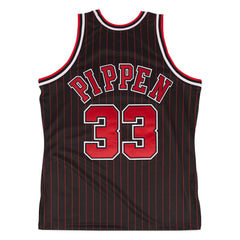 Scottie Pippen Bulls Pinstripe Jersey 1995 - leaders1354