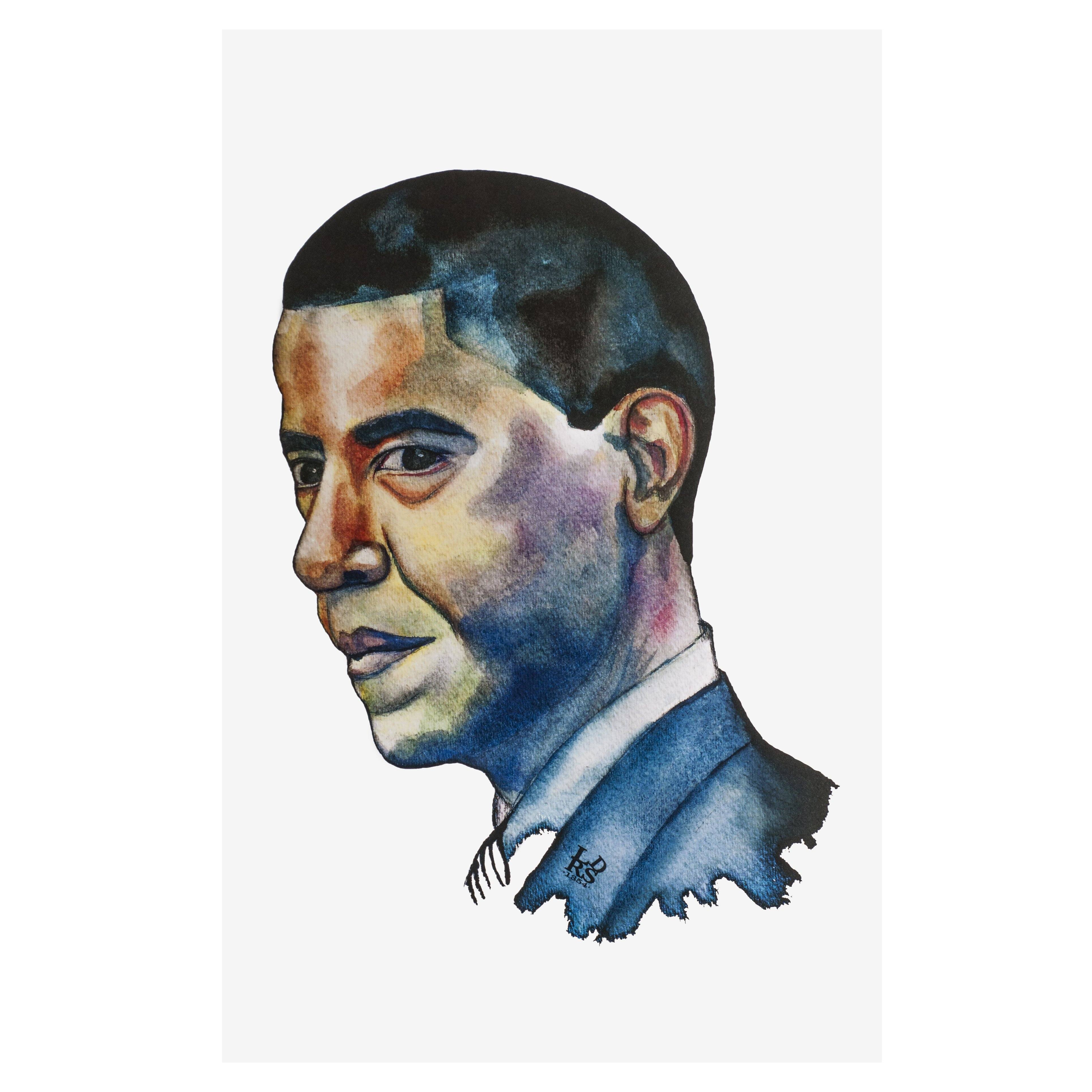 Barack Obama Print - leaders1354