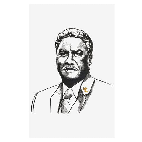 Harold Washington Print - leaders1354