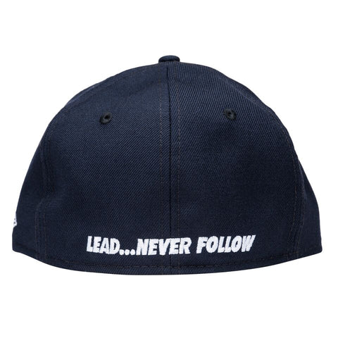 Leaders Navy Cursive Fitted Hat - leaders1354