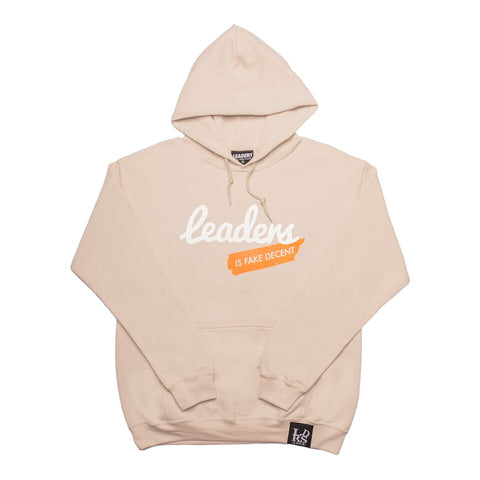 Script Leaders X Fake Decent Pullover Hood Sand