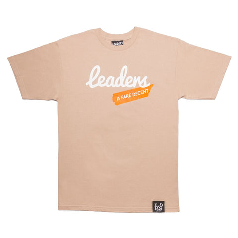 Script Leaders X Fake Decent Tee Sand