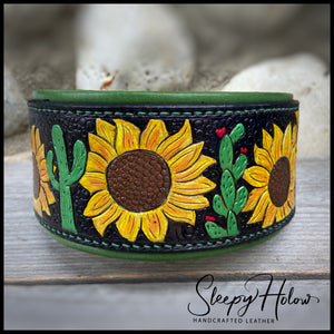 Leather Carved or Stamped Collars