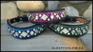 BLING OR TOOLED DOG COLLARS - Custom Order