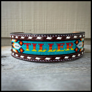 BEADED DOG COLLARS - Custom Order