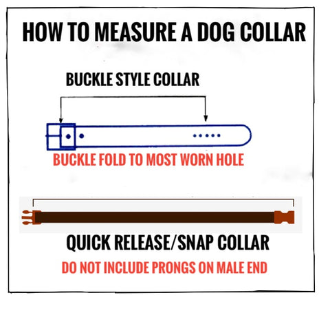 How to measure an existing dog collar-buckle style-quick release style