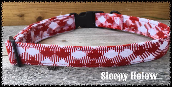 LIttle Maple Leaf Nylon Dog Collar