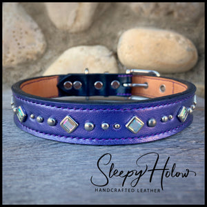 """Betty"" Purple Bling Collar"