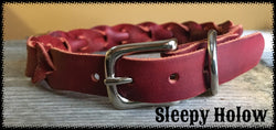 Leather Bleed Knot Collar