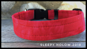 Custom Fabric Collar - Reds/Oranges