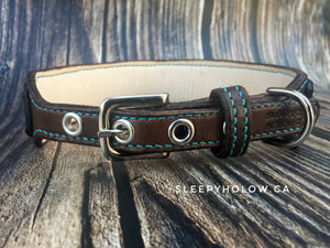 Leather Blinged Dog Collar