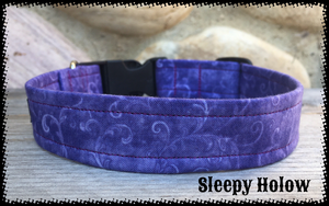 Custom Fabric Collar - Purples/Pinks