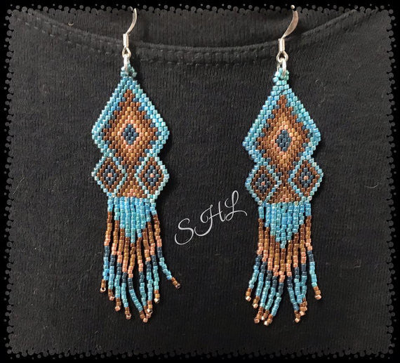 Brittini ~ Beaded Fringe Earrings