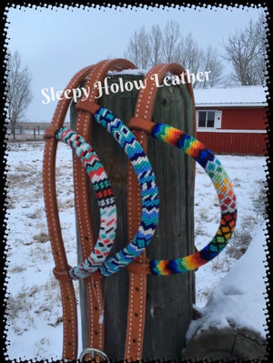 Customized Beaded One Ear Headstall Horse Tack
