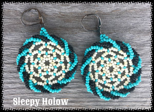 Huichol Dreamcatcher Bead Earrings