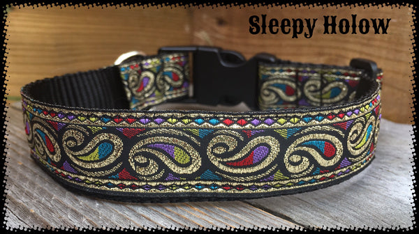 Metallic Paisley Dog Collar