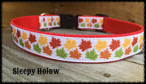 Fall Maple Leaf Dog Collar