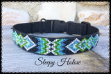 Electric Blue Nylon Dog Collar