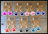 beaded paw print-paw print earrings-beaded paws-dog lover jewlery-paw earring-beaded earrings