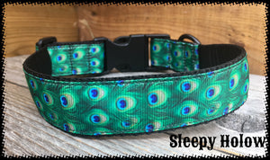Peacock Dog Collar