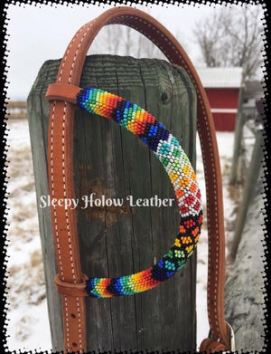 One Ear Beaded Headstall - Custom Order
