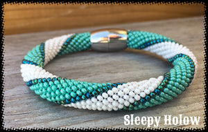 Turquoise Spiral Cuff Bracelet