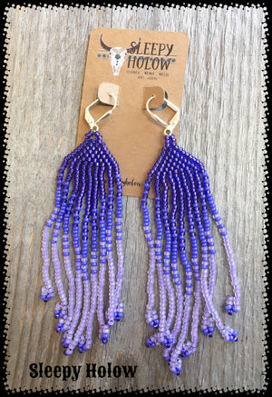 Gradient Fringe Bead Earrings