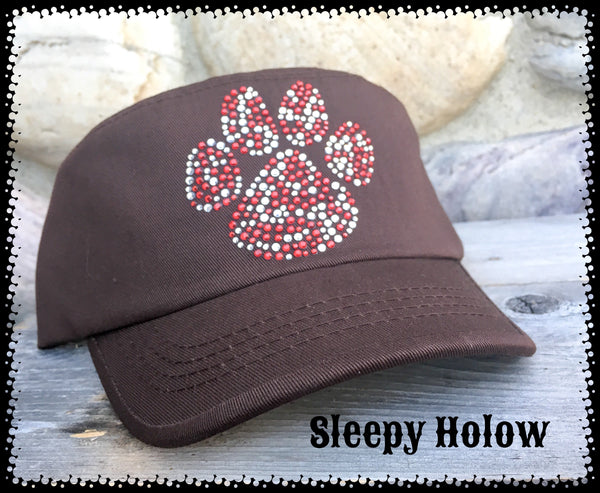 Red Paw Military Hat for Dog Lovers