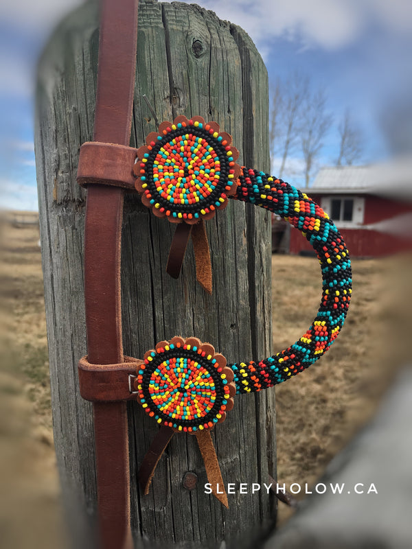 Beaded One Ear Headstall Horse Tack