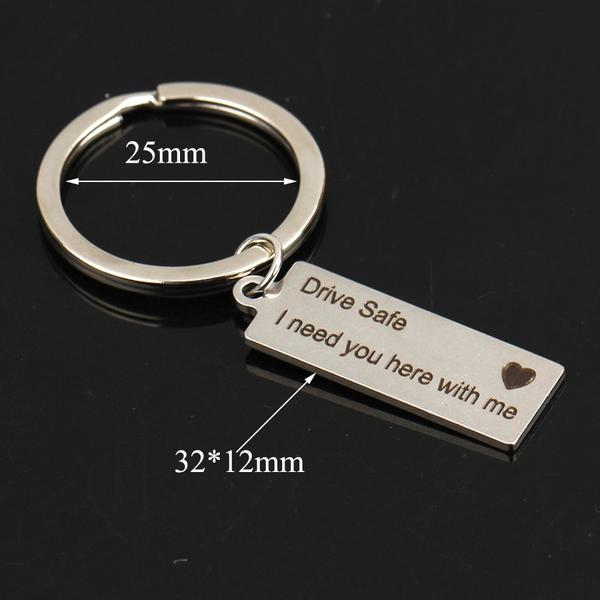 Unisex - Authentic Tama Engraved Romantic Keychain [FREE]