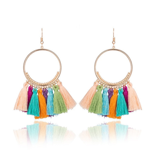 Womens - Authentic AmethSythe Namibian Tassle Earrings [FREE]