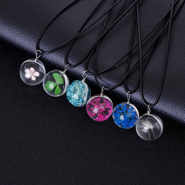 Womens - Exclusive MeyliffK Flower Crystal Necklaces [FREE]