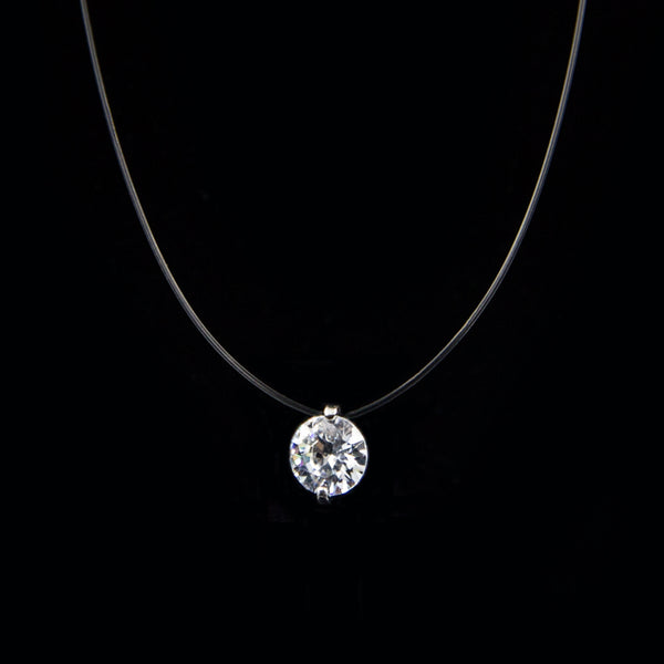 Womens - Authentic Swaroski Femme Silver Necklace [FREE]