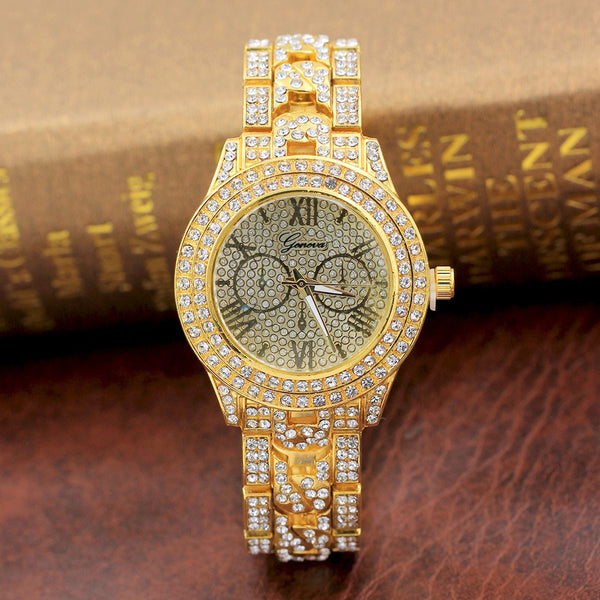 Mens - Authentic Supreme CZ Diamond Encrusted Watch