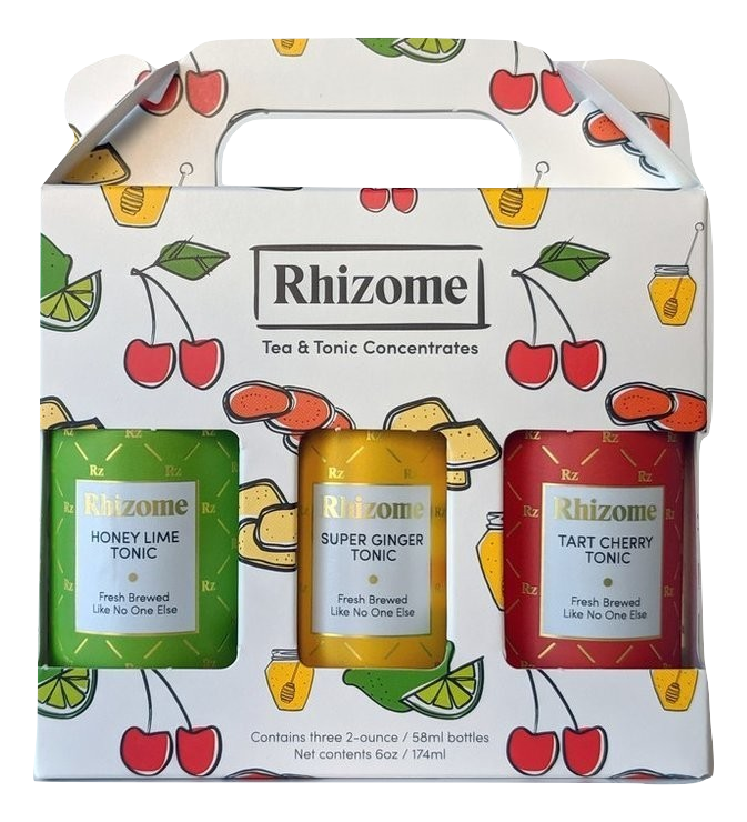 Rhizome Tea & Tonic Concentrate Gift Set (Honey Lime, Super Ginger, Tart Cherry)