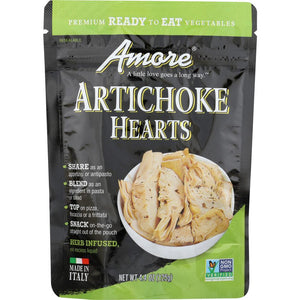 Amore Artichoke Hearts, 4.4 oz Pouch - Snazzy Gourmet