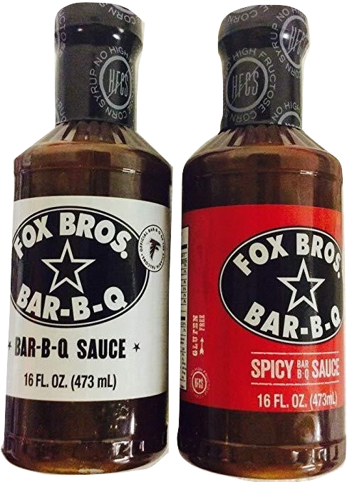 Fox Bros. BBQ Sauce Twin Pack, (1) Original & (1) Spicy - Snazzy Gourmet