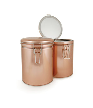 Latched Copper Tea Storage Tin - Snazzy Gourmet