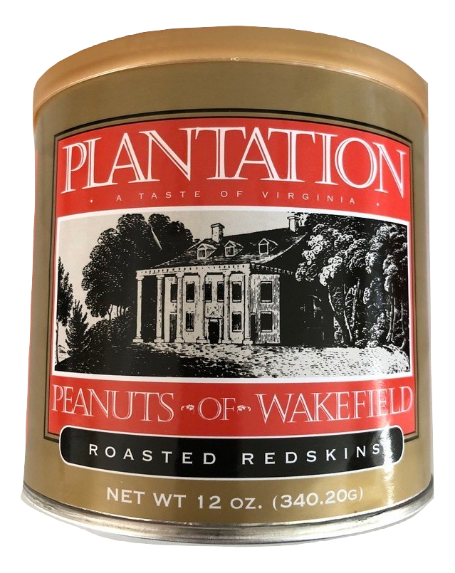 Gourmet Roasted Redskins Peanuts, 12 Ounce Tin