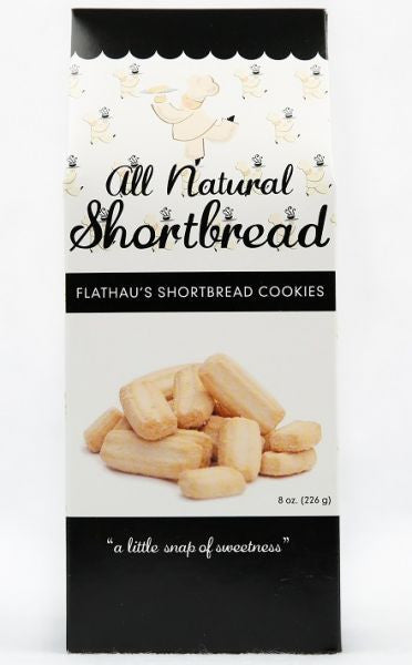 Flathau's Shortbread Cookie Snaps - Original (Plain) 8 oz. Box - Snazzy Gourmet