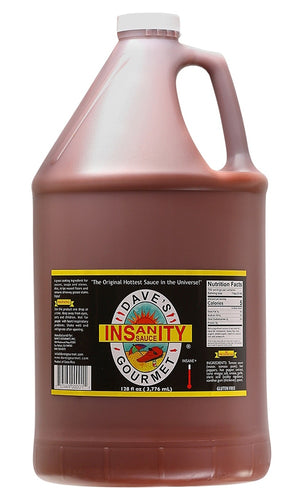 Dave's Gourmet Insanity Hot Sauce, Gallon - Snazzy Gourmet