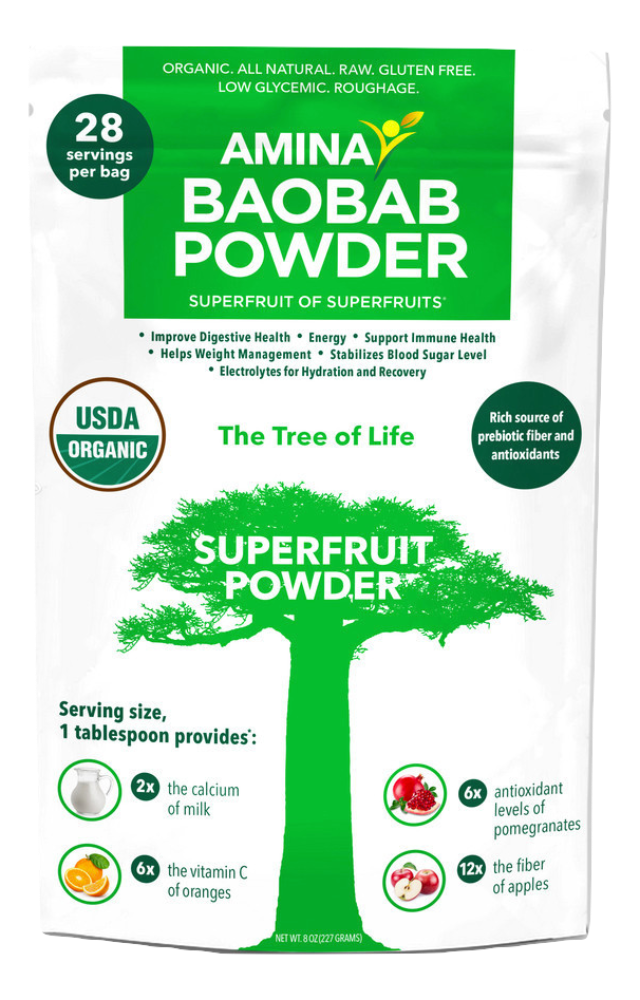 Amina Organic Tree Dried Baobab Powder - 8 oz - Snazzy Gourmet