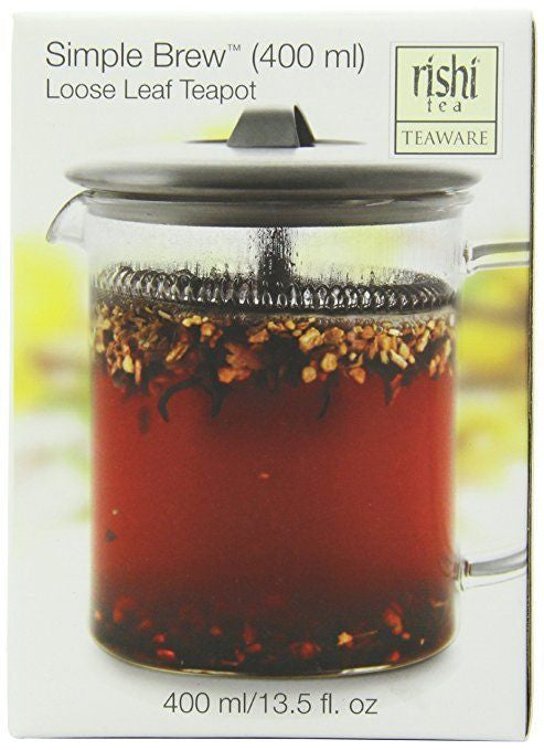 Rishi Tea Simple Brew Loose Leaf Teapot, 13.5 Ounces (400ml) - Snazzy Gourmet