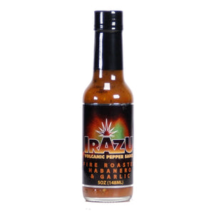 Irazu Fire Roasted Habanero & Garlic Crushed Pepper Sauce, 5 oz - Snazzy Gourmet