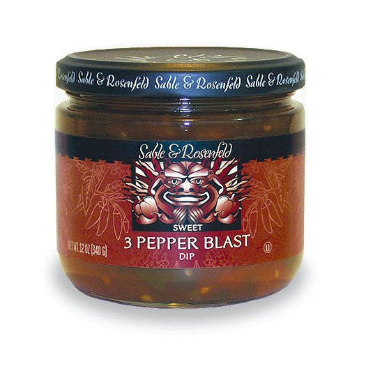 Sable & Rosenfeld 3 Pepper Blast Sweet Relish Dip - 12 oz - Snazzy Gourmet