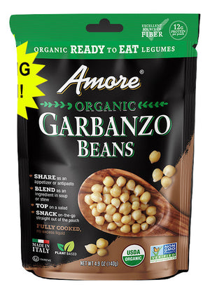 Amore Organic Garbanzo Beans, 4.9 oz Pouch - Snazzy Gourmet