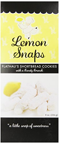 Flathau's Fine Foods Lemon Snaps, 8-Ounce Boxes (Pack of 6)