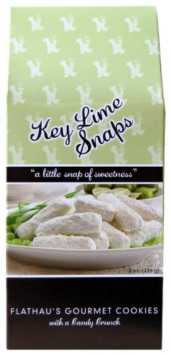 Flathau's Fine Foods Key Lime Snaps, 8-Ounce Boxes (Pack of 6) - Snazzy Gourmet