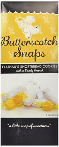 Flathau's Fine Foods Butterscotch Snaps, 8-Ounce Boxes (Pack of 6)