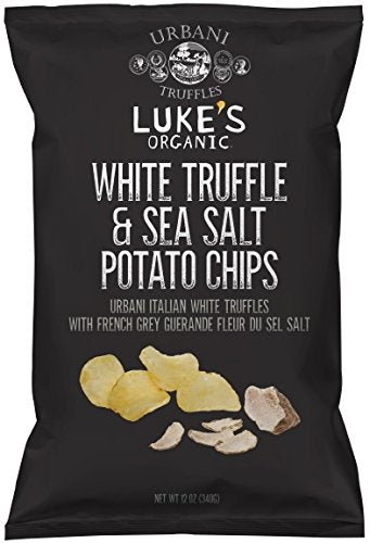 Luke's Organic Potato Chips, White Truffle/Sea Salt, 12 Ounce - By Urbani Truffles